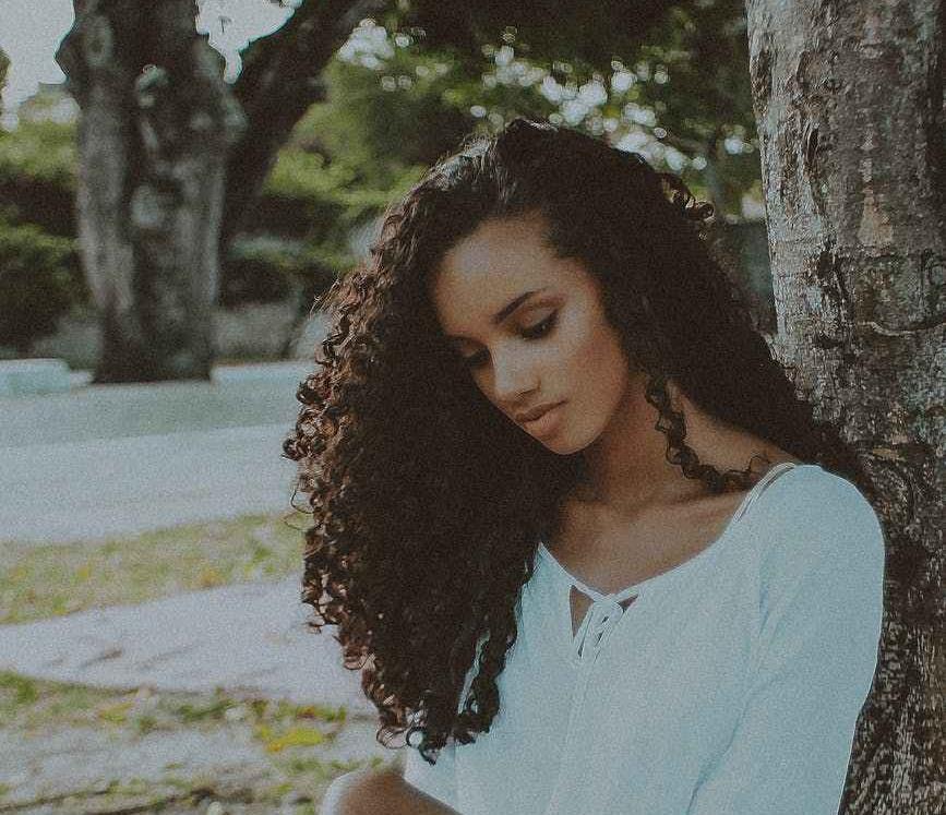 long natural hair